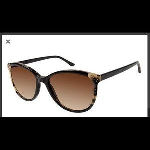 Kay Unger New York Tortoise Sunglasses w/ Case New